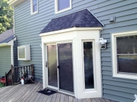 white vinyl sliding patio door
