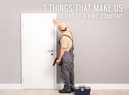 Door Contractor Installing White New Door