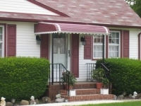 striped pattern aluminum awning carteret nj