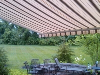 striped pattern retractable awning wall mounted monroe nj