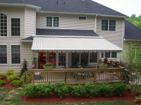 wall mounted patio awning