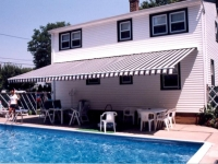 wall mounted pool side awning